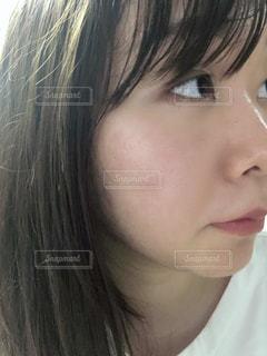 女性のクローズアップの写真・画像素材[2126629]