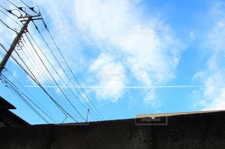 ひこうき雲の写真・画像素材[963348]