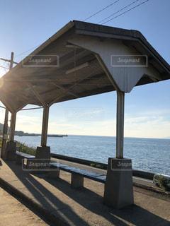 日本一海に近い駅 下灘駅の写真・画像素材[1694843]