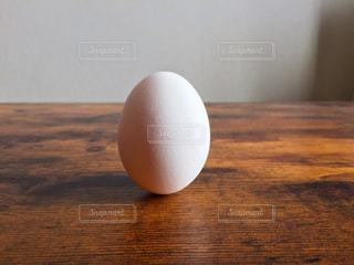 立っている卵ひとつの写真・画像素材[1012045]