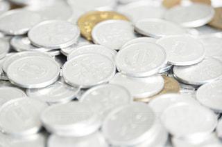 たくさんの1円玉の写真・画像素材[1039839]