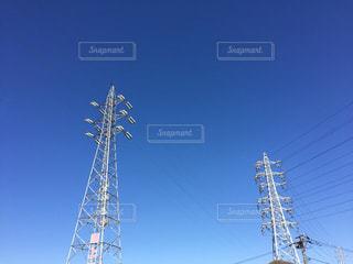 2つの鉄塔の写真・画像素材[1039893]