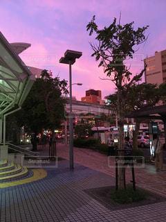 黄昏の街の写真・画像素材[374266]
