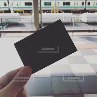 黒いチケットの写真・画像素材[1156420]
