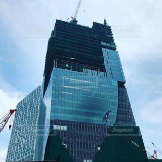 大規模工事のくもり空の写真・画像素材[1243673]