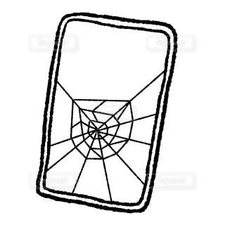 割れたスマートフォンの写真・画像素材[1416591]