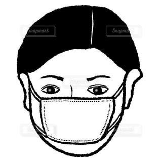 マスク男の写真・画像素材[1495807]