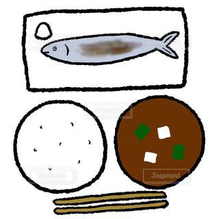 秋刀魚定食の写真・画像素材[1619633]