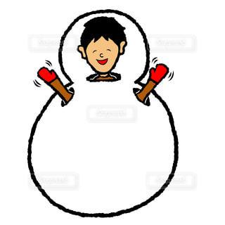 雪だるま男の写真・画像素材[1690429]