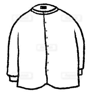 ノーカラーシャツの写真・画像素材[1776498]