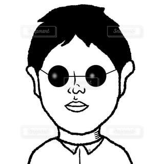 グラサン男の写真・画像素材[2202403]
