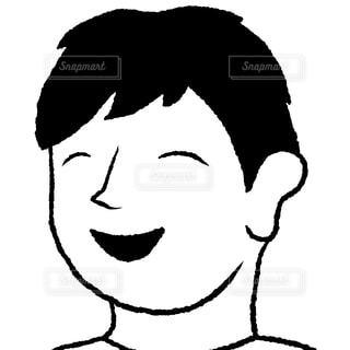 斜め横から笑顔の写真・画像素材[2432913]