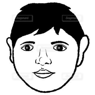顔のパーツしっかり男の写真・画像素材[2432924]