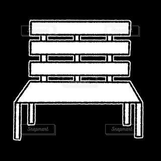 公園の椅子の写真・画像素材[2884947]