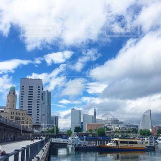 横浜港にての写真・画像素材[775704]