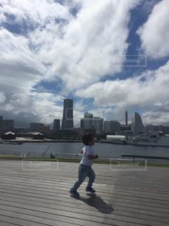 大さん橋からの横浜の景色の写真・画像素材[1007106]