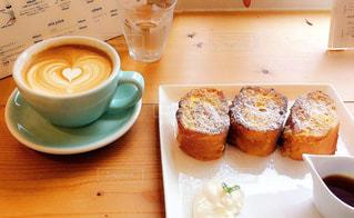 カフェ,フレンチトースト,ラテアート
