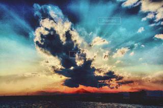 空,夕日,アート,構図,アンビエント