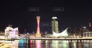 神戸の港の夜景の写真・画像素材[1090885]