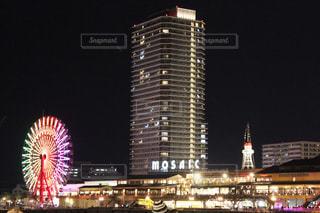 ライトアップの神戸の夜景の写真・画像素材[1091697]