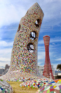 カラフルな塔の写真・画像素材[1107809]