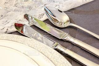 ナイフとフォーク プレートの写真・画像素材[1108078]