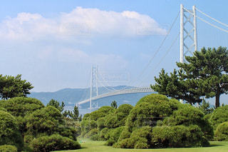 舞子ヴィラからの見える明石海峡大橋の写真・画像素材[1419514]