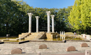 ギリシャのような公園の写真・画像素材[3828974]