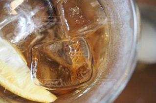 オレンジ ジュースのガラス - No.727449