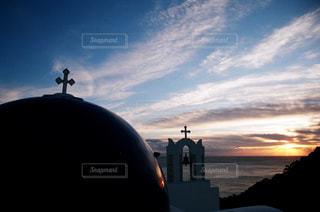 高知で見た夕焼け空の写真・画像素材[977872]
