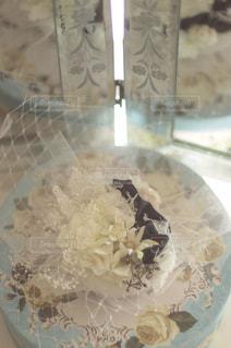 皿の上のケーキの一部の写真・画像素材[1139286]
