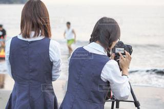 カメラ女子の写真・画像素材[1721079]