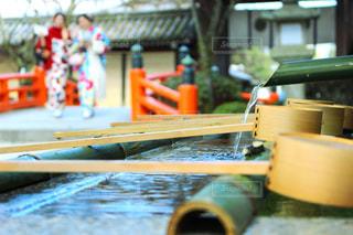 女性,風景,二人組,京都,神社,水,女,女の子,道,着物,旅行,旅,日本,二人,和,手水,素材,壁紙,美