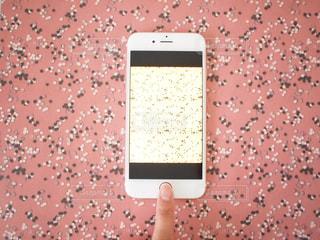 ピンク 模様 背景 スマホ スマートフォン タッチするの写真・画像素材[1142270]