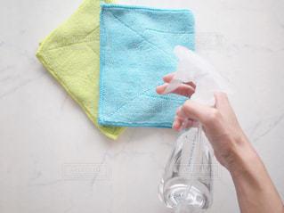 掃除 スプレー 雑巾の写真・画像素材[1455982]