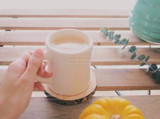 コーヒー かぼちゃ パンプキン 秋の写真・画像素材[1500962]