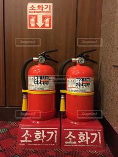 韓国の消火器の写真・画像素材[1324760]