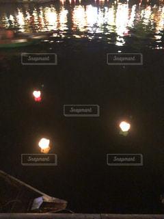 夜の街の景色の写真・画像素材[1437631]