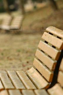 木のベンチの写真・画像素材[719800]