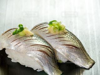 コハダにぎり寿司の写真・画像素材[2021397]