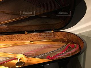 グランドピアノ、構造、ピアノの弦の写真・画像素材[442797]