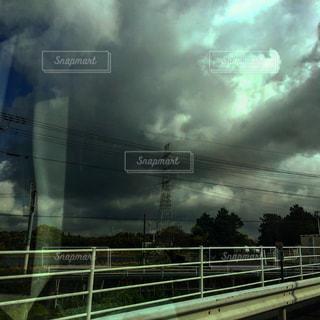 #天空#アートな世界#アートな電線の写真・画像素材[553782]