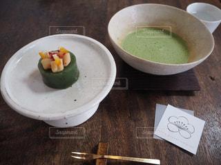 和菓子と抹茶の写真・画像素材[1089248]