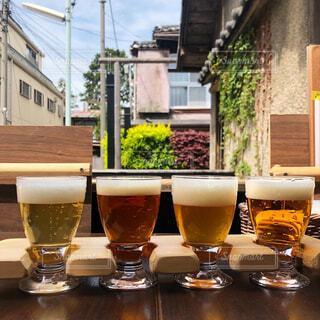 クラフトビールの飲み比べの写真・画像素材[4328586]