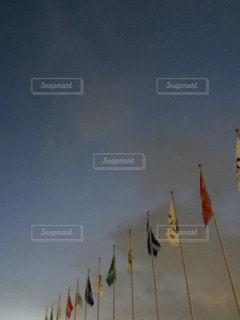 空中に凧の飛行の人々 のグループの写真・画像素材[1041149]