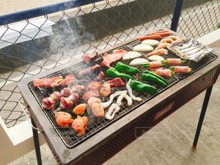 海,夏,肉,バーベキュー,BBQ
