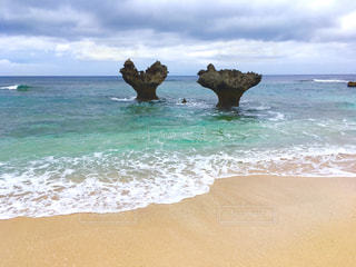 沖縄の古宇利島のロックハートの写真・画像素材[394453]