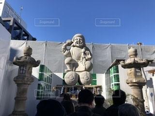 神田明神で福がありそうな石像にお詣りの写真・画像素材[1681149]