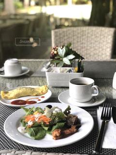 南国ビーチリゾートの朝ごはんの写真・画像素材[3184164]
