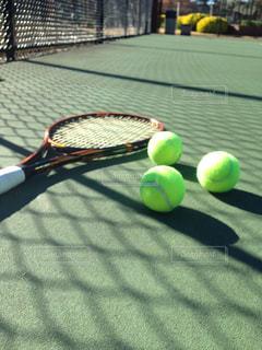 テニスコートの写真・画像素材[393798]
